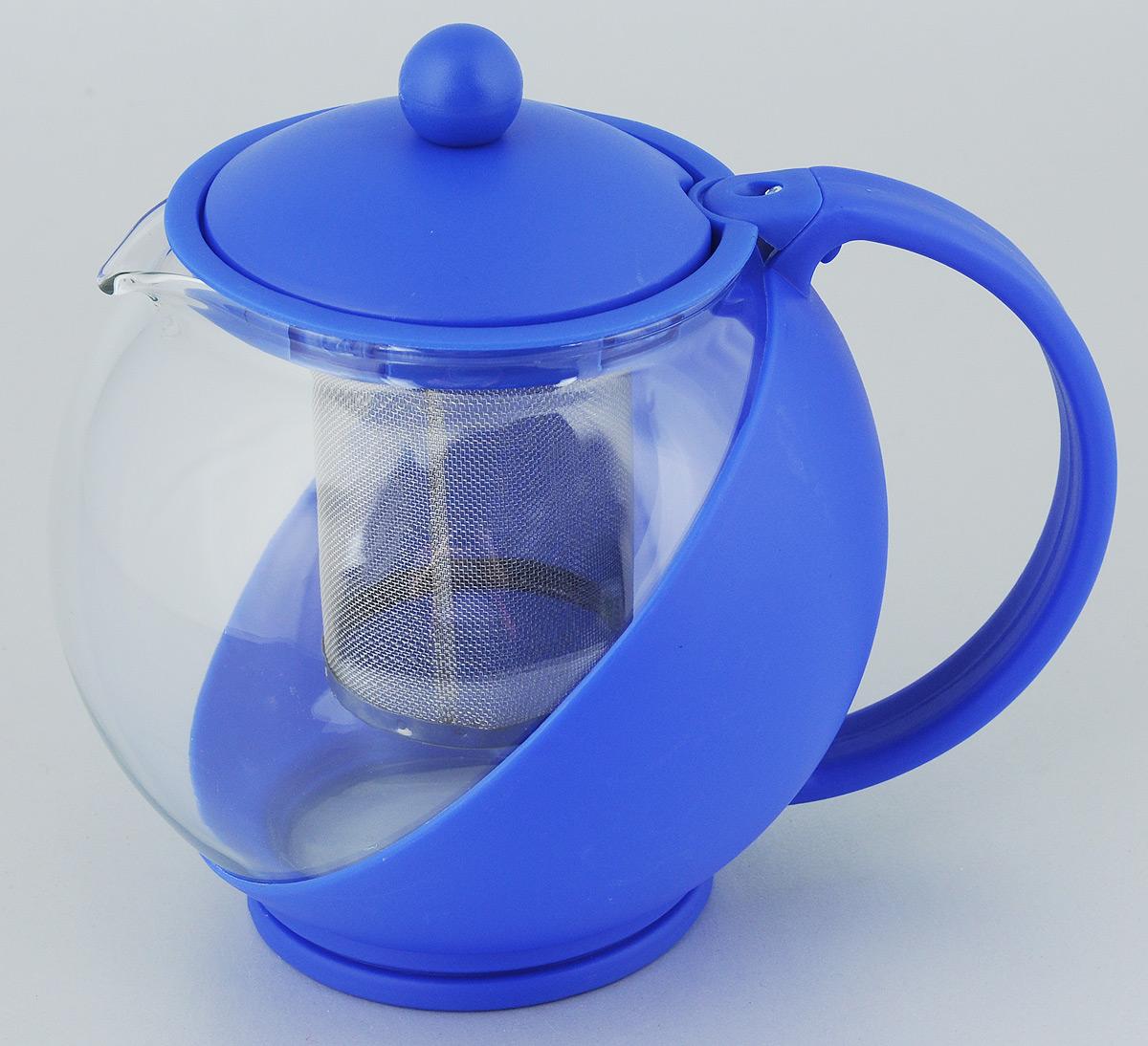 Чайник заварочный Bekker Koch, с фильтром, цвет: синий, 1,25 лVT-1520(SR)Заварочный чайник Bekker Koch изготовлен извысококачественного пластика и жаропрочногостекла. Он имеет металлический фильтр.Чайник оснащенудобной пластиковой ручкой.В нем вы можете приготовить вкусный и ароматный чай.Заварочный чайник Bekker Koch займетдостойное место на вашей кухне.Объем: 1,25 л.Высота чайника (без учета крышки): 14 см.Диаметр (по верхнему краю): 9,5 см.