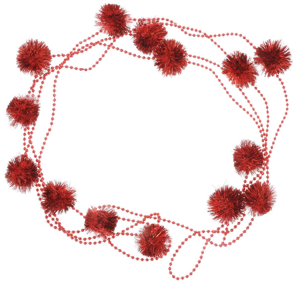 Гирлянда новогодняя Lovemark Шарики. Бусины, цвет: красный, длина 2,7 мY1117RНовогодняя гирлянда Lovemark, выполненная из пластика и текстиля, украсит интерьер вашего дома или офиса в преддверии Нового года. Оригинальный дизайн и красочное исполнение создадут праздничное настроение. Новогодние украшения всегда несут в себе волшебство и красоту праздника. Создайте в своем доме атмосферу тепла, веселья и радости, украшая его всей семьей. Общая длина гирлянды: 2,7 м.