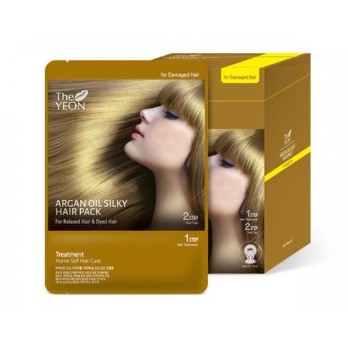The Yeon Маска для волос с аргановым маслом, 12*25гУТ-00000571Маска для волос с аргановым маслом предназначена для сухих и сильно поврежденных волос. Масло камелии, пантенол и компонент Saengmodan – это восстанавливающий волосы комплекс. Масло арганы («масло богов»), обогащено витамином Е, олеиновой кислотой, линоленовой кислотой, которые питают и восстанавливают не только волосы, но и кожу головы. Компонент Saengmodan состоит из 11 ингредиентов, которые насыщают кожу и волосы питательными элементами.