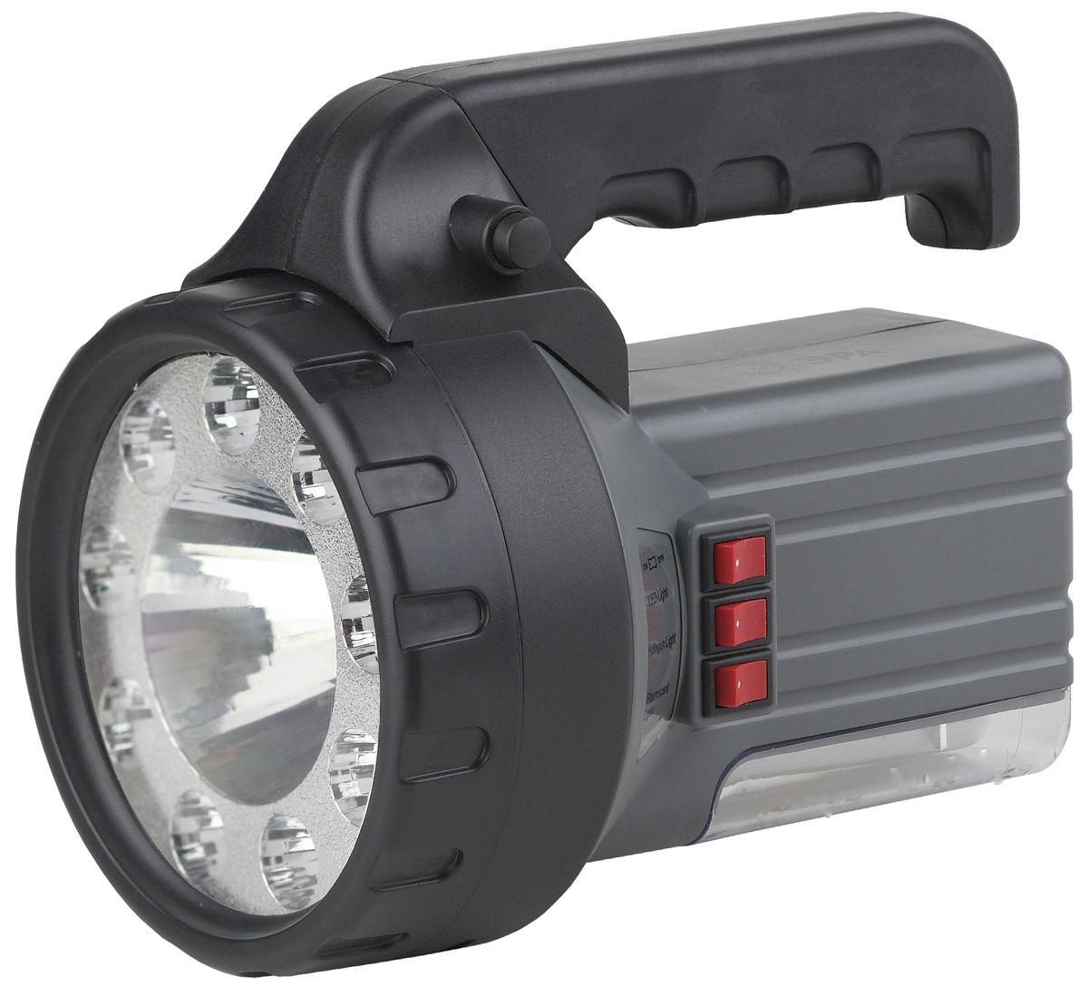 Фонарь ручной ЭРА, 1W+9+18 LED , аккумулятор 2Ah, ЗУ 220VFA58MАккумуляторный ПОЛНОСТЬЮ светодиодный фонарь 3в1: фонарь 9xLED + прожектор 1W + светильник 18xLED Аккумулятор 6V 2.5Ah подзарядка от сети 220V