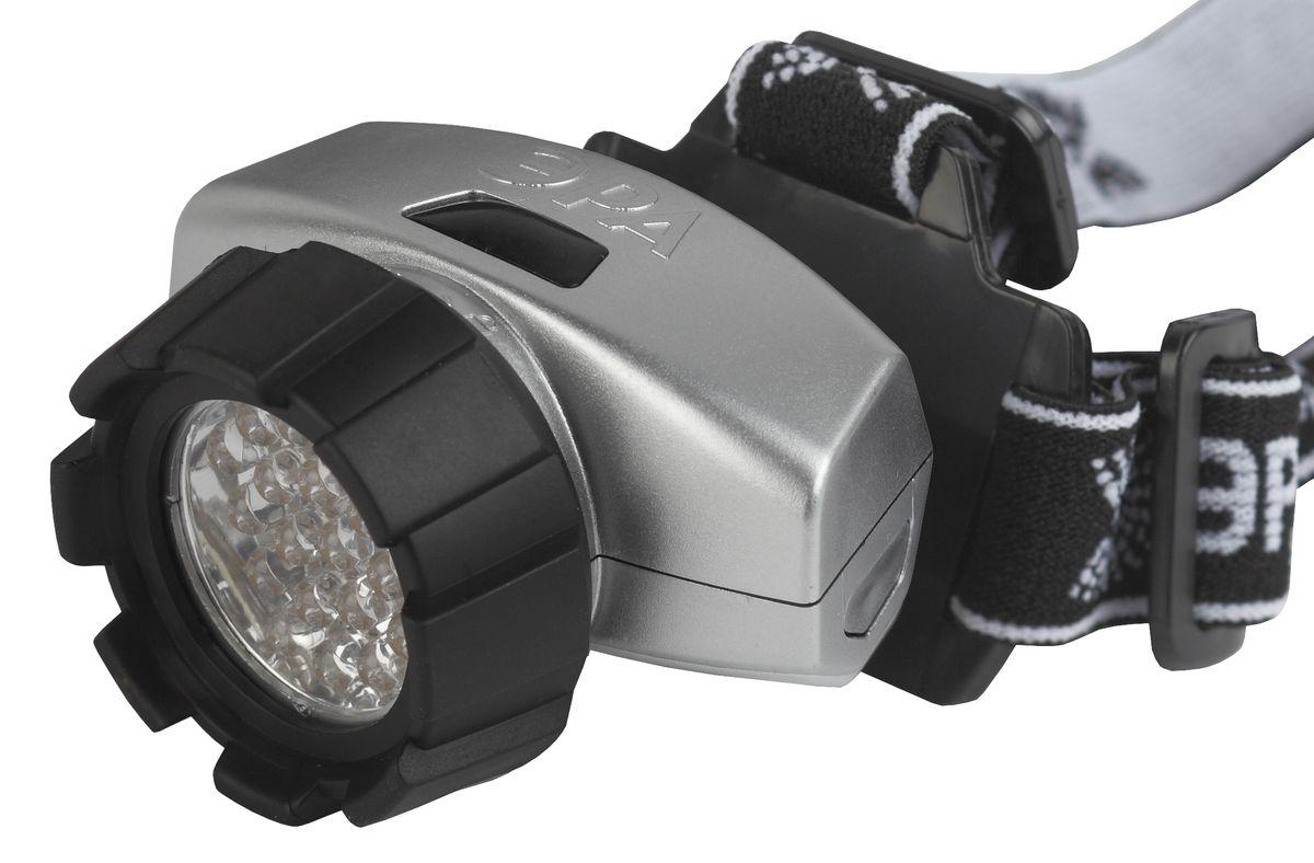 Фонарь налобный ЭРА, 18xLEDG18Светодиодный налобный фонарь: 18 белых светодиодов 4 режима работы 3xAAA (в комплект не входят)