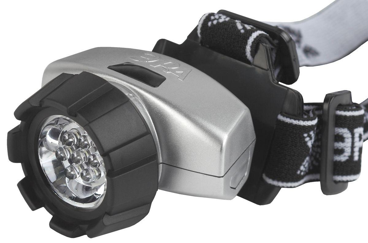 Фонарь налобный Эра New, 7 x LED67743Светодиодный налобный фонарь Эра New:7 белых светодиодов4 режима работы 3 x AAA (в комплект не входят)