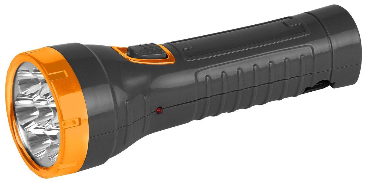 Фонарь ручной Трофи, 7xLED, аккумулятор 4V1AhTA7Компактный аккумуляторный светодиодный фонарь: 7 белых светодиодов (2 режима работы) аккумулятор 4V 900mAh складная евровилка 6 часов работы без подзарядки упаковка: картонная коробка
