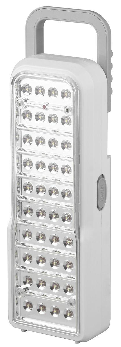 Фонарь ручной Трофи, 40 x LED, аккумулятор 4V 2Ah, ЗУ 220V22695Аккумуляторный светодиодный фонарь Трофи: 40 белых LED2 режима работыАккумулятор 4V 2AhПодзарядка от сети 220 Вольт