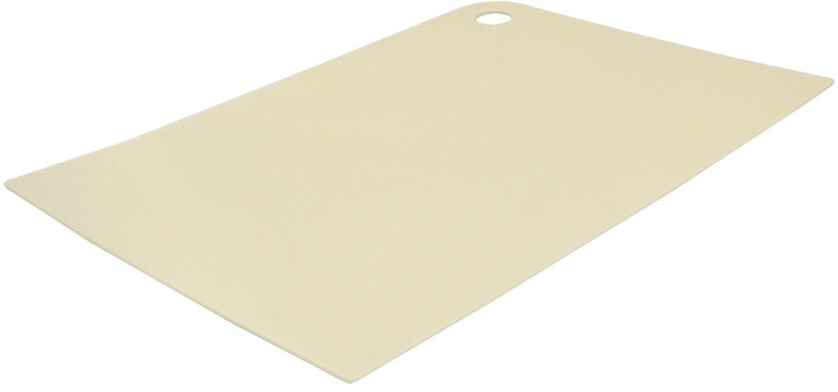 Доска разделочная Giaretti Delicato, гибкая, цвет: сливочный, 35 х 25 смCM000001328Маленькие и большие, под хлеб или сыр, овощи или мясо. Разделочных досок много не бывает. Giaretti предлагает новинку – гибкие доски.Преимущества:-не скользит по поверхности стола - вы можете резать продукты и не отвлекаться на мелочи; -удобно использовать - на гибкой доске вы сможете порезать продукты, согнув доску переложить их в блюдо и не рассыпать содержимое;-легкие доски займут мало места на вашей кухне;-легко моются в посудомоечной машине; -оптимальный размер доски позволят вам порезать небольшой кусок сыра или нашинковать много овощей.