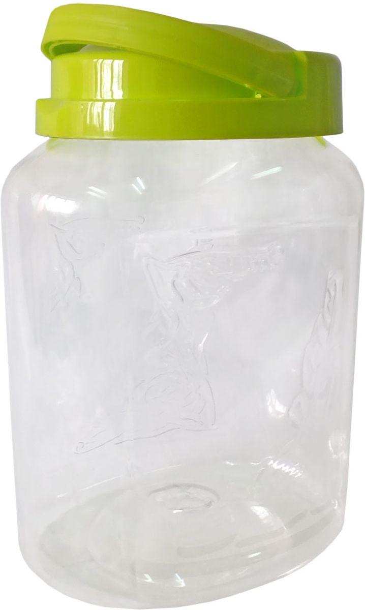 Емкость для хранения Plastic Centre Крок, цвет: светло-зеленый, прозрачный, 3 лVT-1520(SR)Емкость для хранения Plastic Centre Крок, выполненная из высококачественного пластика, предназначена для хранения сыпучих продуктовили жидкостей. Крышка оснащена ручкой для удобной переноски.
