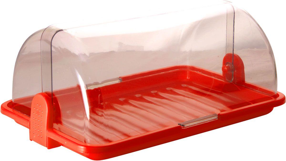 Хлебница Plastic Centre, цвет: красный, прозрачный, 38,5 х 26 х 16,5 смПЦ1670КРНаша хлебница сохранит хлеб свежим длительное время. Оптимальный размер хлебницы подойдет для любой кухни.