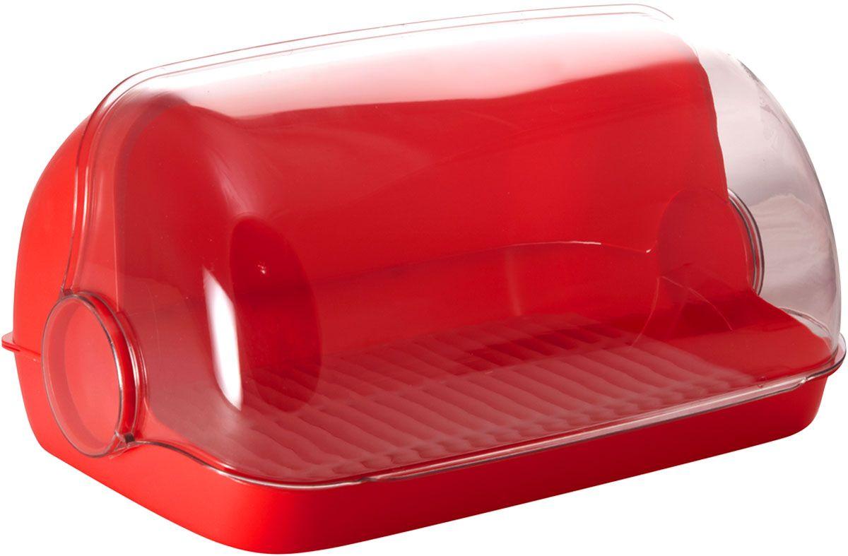 Хлебница Plastic Centre Пышка, цвет: красный, прозрачный, 41,5 х 26 х 18,5 смПЦ1673КРУниверсальная форма хлебниц Пышка подойдет для любой кухни. Решетка внутри хлебницы поможет сохранить хлеб свежим долгое время.