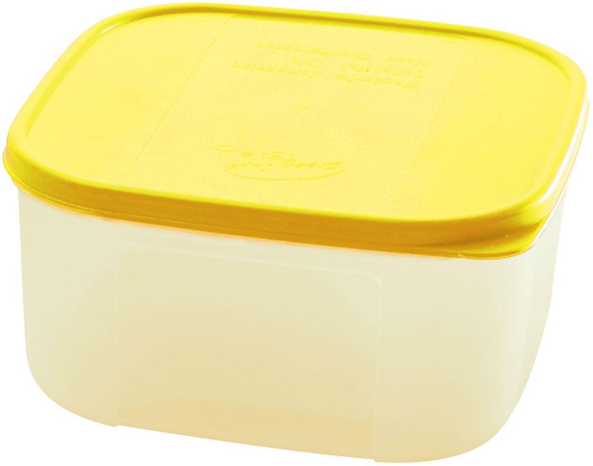 Емкость для продуктов Plastic Centre Bio, цвет: желтый, прозрачный, 420 млVT-1520(SR)Многофункциональная емкость для хранения различных продуктов, разогрева пищи, замораживания ягод и овощей в морозильной камере и т.п. При хранении продуктов в холодильнике емкости можно ставить одну на другую, сохраняя полезную площадь холодильника или морозильной камеры.Размер контейнера: 11 x 11 x 6 см.Объем контейнера: 420 мл.