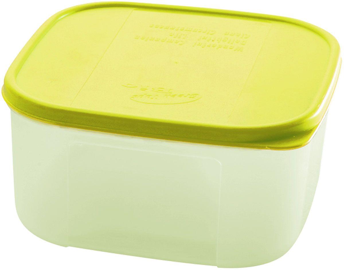 Емкость для продуктов Plastic Centre Bio, цвет: светло-зеленый, прозрачный, 1,1 лVT-1520(SR)Многофункциональная емкость для хранения различных продуктов, разогрева пищи, замораживания ягод и овощей в морозильной камере и т.п. При хранении продуктов в холодильнике емкости можно ставить одну на другую, сохраняя полезную площадь холодильника или морозильной камеры.Размер контейнера: 14,8 x 14,8 x 7,7 см.Объем контейнера: 1,1 л.