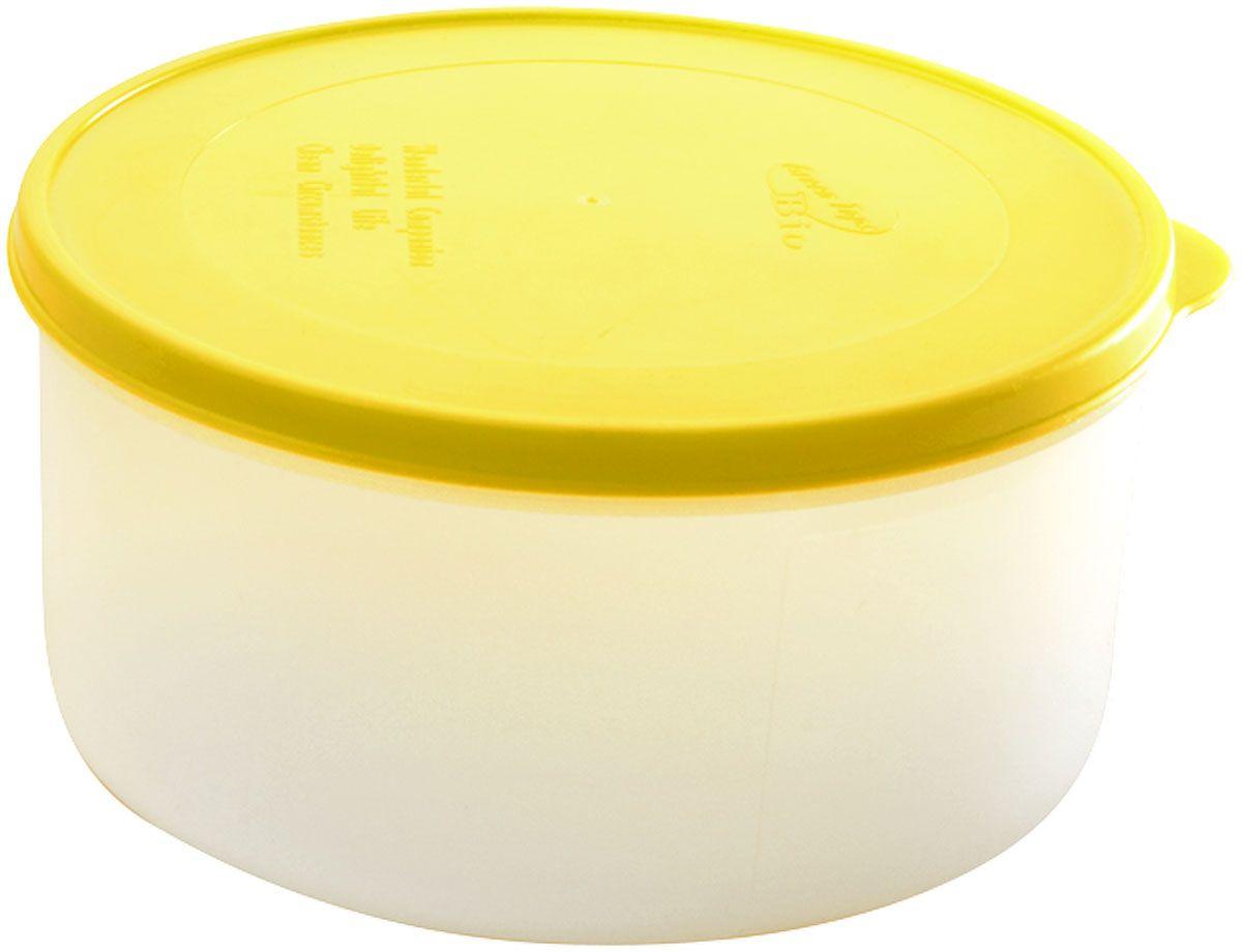 Емкость для продуктов Plastic Centre Bio, цвет: желтый, прозрачный, 1 лПЦ2372ЛМНМногофункциональная емкость для хранения различных продуктов, разогрева пищи, замораживания ягод и овощей в морозильной камере и т.п. При хранении продуктов в холодильнике емкости можно ставить одну на другую, сохраняя полезную площадь холодильника или морозильной камеры. Широкий ассортимент цветов удовлетворит любой вкус и потребности.