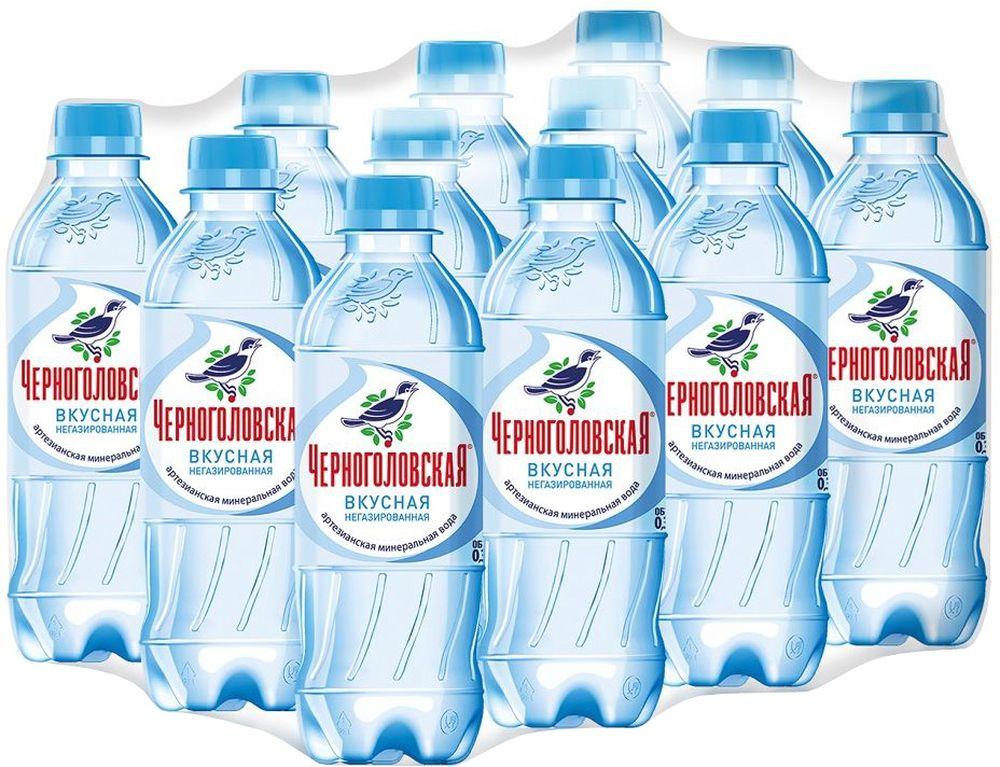 """""""Черноголовская"""" вкусная артезианская минеральная негазированная вода 12 шт по 0,33 л 010500-0024206"""