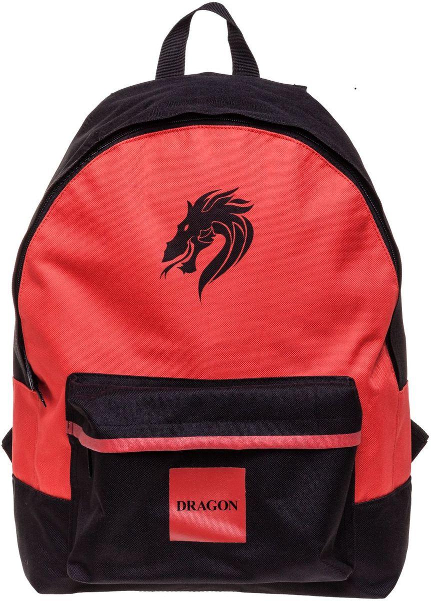 Hatber Рюкзак Basic DragonNRk_19070Легкий повседневный молодежный рюкзак. Идеальное соотношение цена-качество. Модные дизайны на любой вкус. Вместительное отделение, внутри него карман для тетрадей. Передний карман на молнии. Уплотненные спинка, дно и лямки. Материал полиэстер. Размер 30 х 41 х 13 см