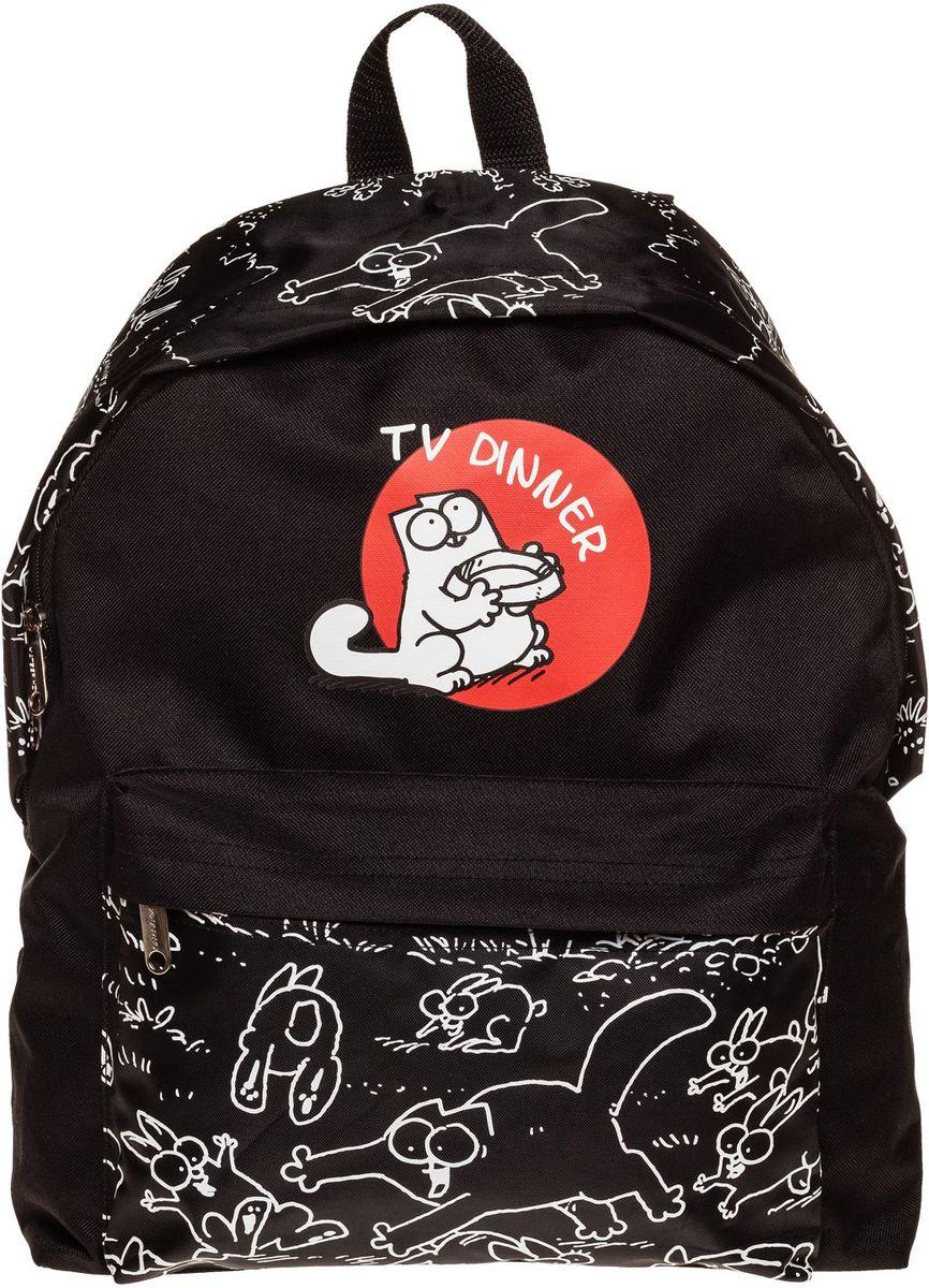Hatber HD Рюкзак Basic Кот Саймона (SC)NR_19107Легкий повседневный молодежный рюкзак. Идеальное соотношение цена-качество. Модные дизайны на любой вкус. Вместительное отделение, внутри него карман для тетрадей. Передний карман на молнии. Уплотненные спинка, дно и лямки. Материал полиэстер. Размер 30 х 41 х 13 см