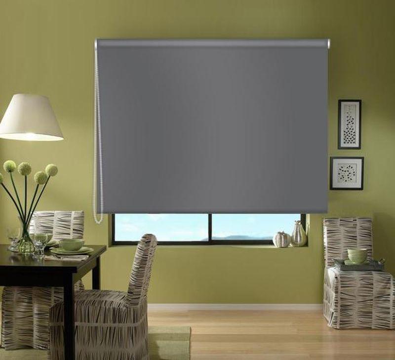 Штора рулонная Эскар Blackout, светонепроницаемая, цвет: серый, ширина 80 см, высота 170 смZ-0307Рулонными шторами можно оформлять окна как самостоятельно, так и использовать в комбинации с портьерами. Это поможет предотвратить выгорание дорогой ткани на солнце и соединит функционал рулонных с красотой навесных. Преимущества применения рулонных штор для пластиковых окон: - имеют прекрасный внешний вид: многообразие и фактурность материала изделия отлично смотрятся в любом интерьере;- многофункциональны: есть возможность подобрать шторы способные эффективно защитить комнату от солнца, при этом она не будет слишком темной. - Есть возможность осуществить быстрый монтаж.ВНИМАНИЕ! Размеры ширины изделия указаны по ширине ткани! Во время эксплуатации не рекомендуется полностью разматывать рулон, чтобы не оторвать ткань от намоточного вала. В случае загрязнения поверхности ткани, чистку шторы проводят одним из способов, в зависимости от типа загрязнения:легкое поверхностное загрязнение можно удалить при помощи канцелярского ластика;чистка от пыли производится сухим методом при помощи пылесоса с мягкой щеткой-насадкой;для удаления пятна используйте мягкую губку с пенообразующим неагрессивным моющим средством или пятновыводитель на натуральной основе (нельзя применять растворители).