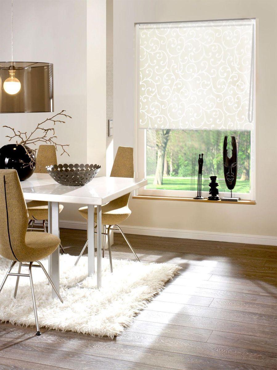Штора рулонная Эскар Агат, цвет: молочный, ширина 140 см, высота 160 смZ-0307Рулонными шторами можно оформлять окна как самостоятельно, так и использовать в комбинации с портьерами. Это поможет предотвратить выгорание дорогой ткани на солнце и соединит функционал рулонных с красотой навесных.Преимущества применения рулонных штор для пластиковых окон:- имеют прекрасный внешний вид: многообразие и фактурность материала изделия отлично смотрятся в любом интерьере; - многофункциональны: есть возможность подобрать шторы способные эффективно защитить комнату от солнца, при этом она не будет слишком темной.- Есть возможность осуществить быстрый монтаж.ВНИМАНИЕ! Размеры ширины изделия указаны по ширине ткани!Во время эксплуатации не рекомендуется полностью разматывать рулон, чтобы не оторвать ткань от намоточного вала.В случае загрязнения поверхности ткани, чистку шторы проводят одним из способов, в зависимости от типа загрязнения: легкое поверхностное загрязнение можно удалить при помощи канцелярского ластика; чистка от пыли производится сухим методом при помощи пылесоса с мягкой щеткой-насадкой; для удаления пятна используйте мягкую губку с пенообразующим неагрессивным моющим средством или пятновыводитель на натуральной основе (нельзя применять растворители).