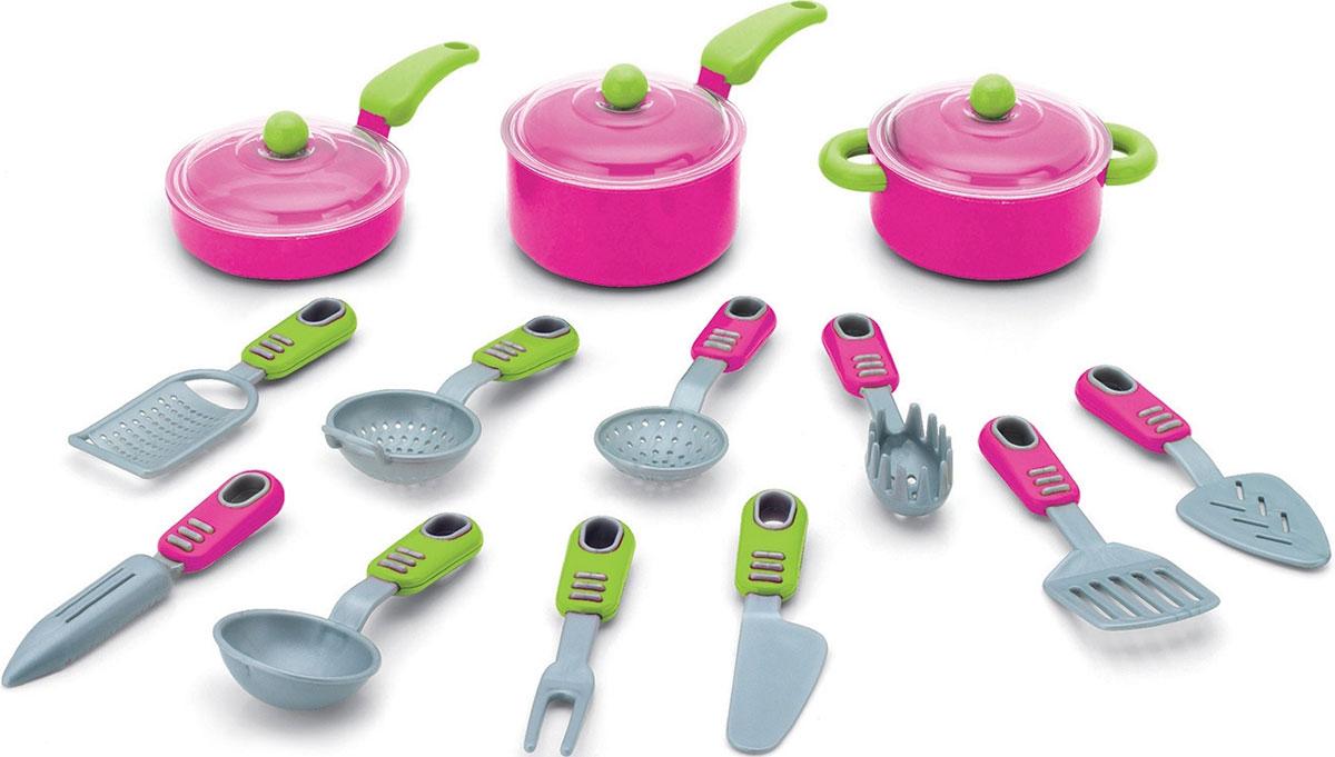 Keenway Игрушечный набор посуды Моя кухня 16 предметов 21682