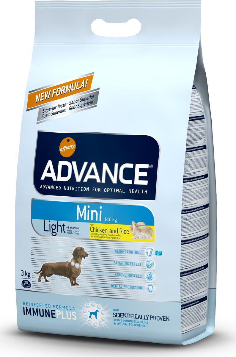 Корму сухой Advance Контроль веса для собак малых пород Mini Light, 3 кг. 50331913050Advance – высококачественный корм супер-премиум класса Испанской компании Affinity Petcare, которая занимает лидирующие места на Европейском и мировом рынках. Корм разработан с учетом всех особенностей развития и жизнедеятельности собак и кошек. В линейке кормов Advance любой хозяин может подобрать необходимое питание в соответствии с возрастом и уникальными особенностями своего животного, а также в случае назначения специалистами ветеринарной диеты. Курица (15%), пшеница, рис (12%), мука из пшеницы,маисовый глютен, дегидрированное мясо курицы, гидролизированный белок животного происхождения, маис, свекольный жом, дегидрированный белок свинины,кукурузные отруби, животный жир, дрожжи, рыбий жир, растительные волокна, хлористый калий, плазменный протеин, карбонат кальция, пирофосфорнокислый натрий, соль,монокальцийфосфат, природные полифенолы. Affinity Petcare имеет собственную лабораторию, а также сотрудничает со множеством международных исследовательских центров, благодаря чему...