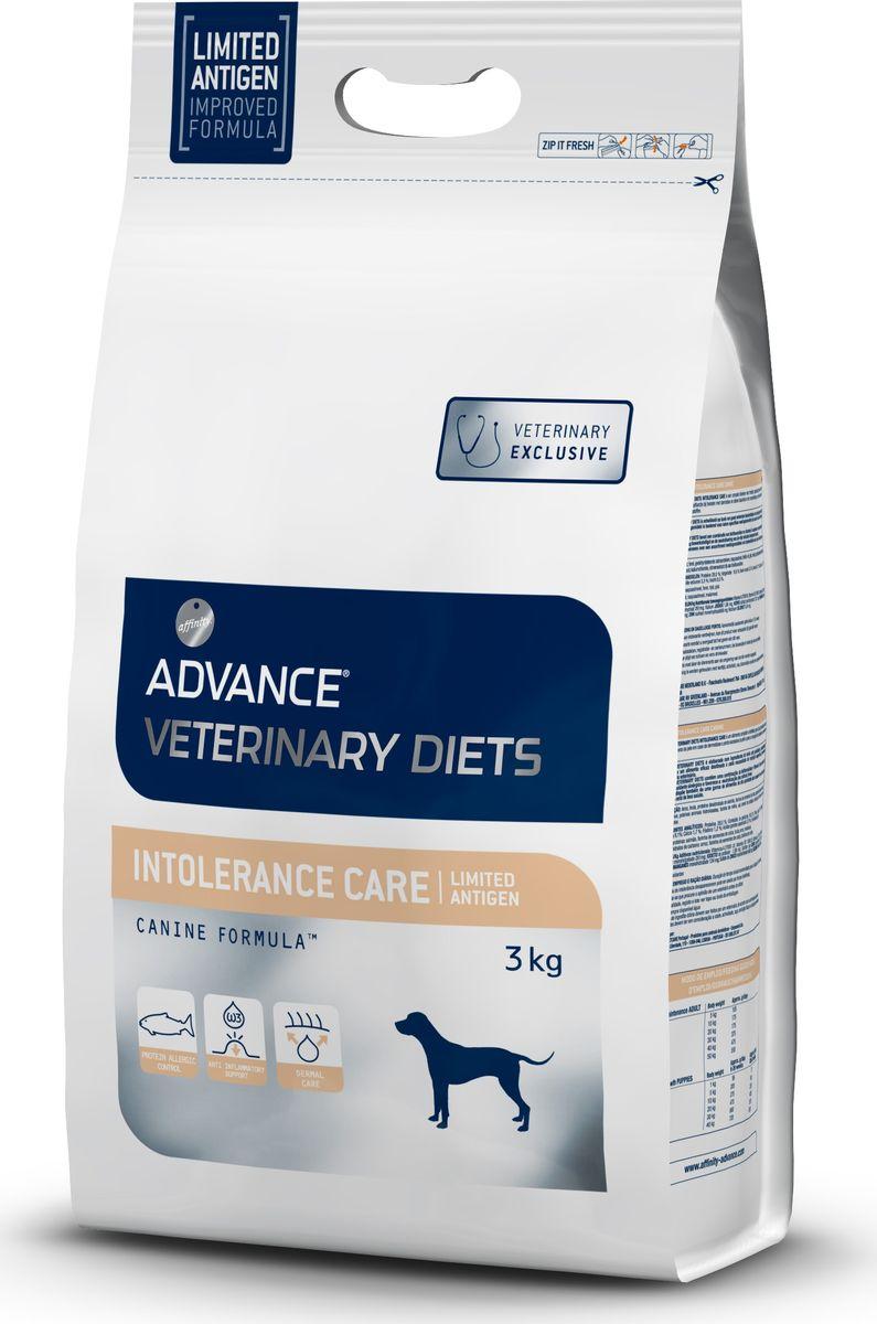 Корму сухой Advance для собак с пищевой непереносимостью Intolerance / Limited Antigen, 3 кг. 5923110120710Advance – высококачественный корм супер-премиум класса Испанской компании Affinity Petcare, которая занимает лидирующие места на Европейском и мировом рынках. Корм разработан с учетом всех особенностей развития и жизнедеятельности собак и кошек. В линейке кормов Advance любой хозяин может подобрать необходимое питание в соответствии с возрастом и уникальными особенностями своего животного, а также в случае назначения специалистами ветеринарной диеты. Рис,форель, дегидрированный белок лосося,рапсовый шрот, животные жиры,дрожжи,рыбий жир, гидролизированные белки животного происхождения, соль, хлорид калия.Affinity Petcare имеет собственную лабораторию, а также сотрудничает со множеством международных исследовательских центров, благодаря чему специалисты постоянно совершенствуют рецептуру и полезные свойства своих кормов.В составе главным источником белка является СВЕЖЕЕ мясо, благодаря которому корм обладает высокими вкусовыми качествами, а также высокой питательной ценностью.
