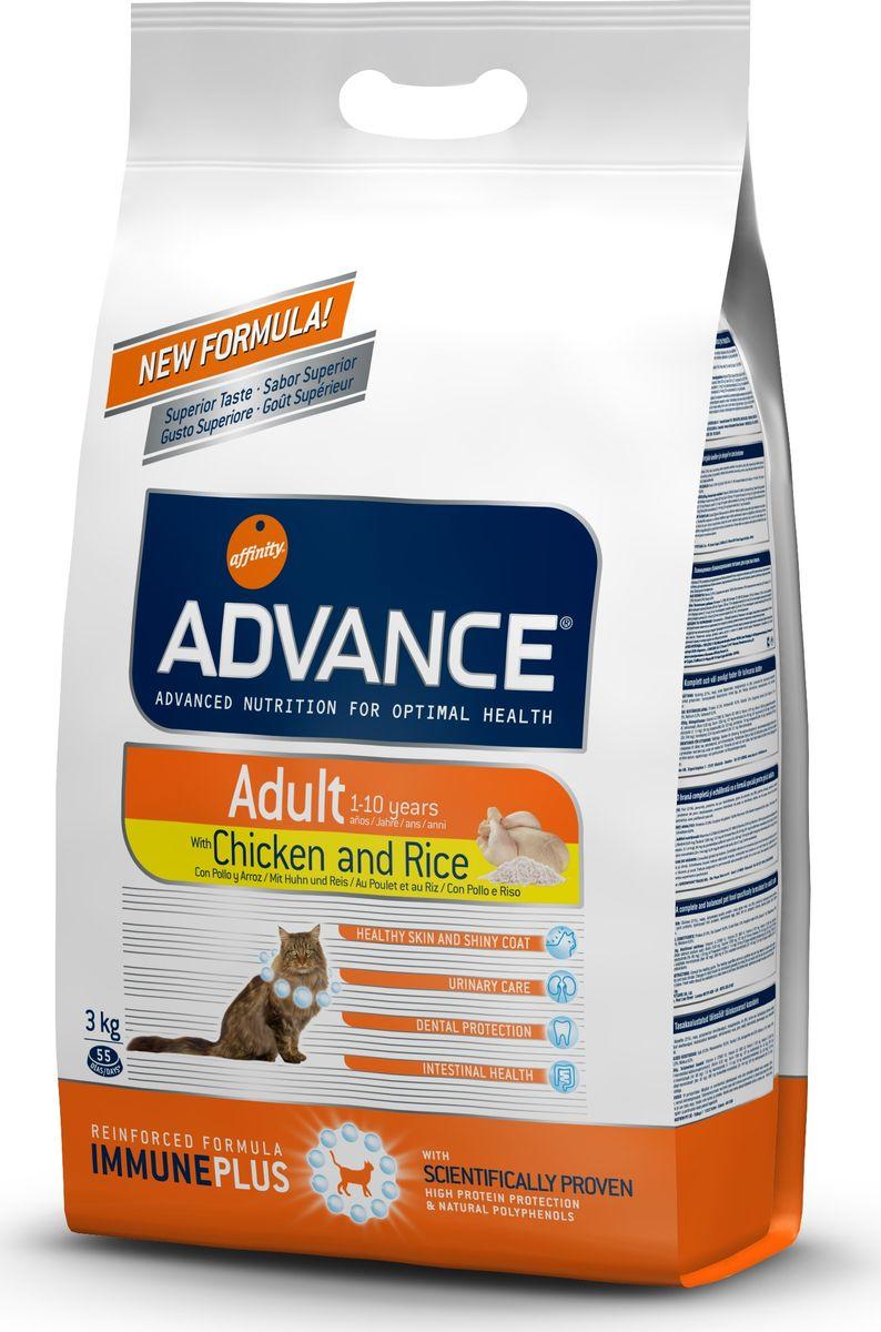 Корму сухой Advance для взрослых кошек: курица и рис Adult C&R, 3 кг. 57331120716Advance – высококачественный корм супер-премиум класса Испанской компании Affinity Petcare, которая занимает лидирующие места на Европейском и мировом рынках. Корм разработан с учетом всех особенностей развития и жизнедеятельности собак и кошек. В линейке кормов Advance любой хозяин может подобрать необходимое питание в соответствии с возрастом и уникальными особенностями своего животного, а также в случае назначения специалистами ветеринарной диеты. Курица (21%), маис, дегидрированное мясо курицы,маисовый глютен, рис (8%), животный жир, гидролизированный белок животного происхождения, дегидрированный белок свинины, гидролизированный белок рыбы,яичный порошок, дрожжи, рыбий жир, хлористый калий, плазменный протеин, соль, природные полифенолы. Affinity Petcare имеет собственную лабораторию, а также сотрудничает со множеством международных исследовательских центров, благодаря чему специалисты постоянно совершенствуют рецептуру и полезные свойства своих кормов. В составе главным...