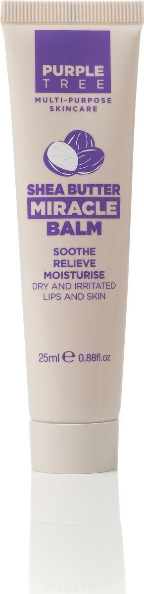 Purple Tree Бальзам для губ Miracle Balm Shea Butter, 25 млSC-FM20101Масло Ши прекрасно питает, увлажняет, смягчает, успокаивает, защищать кожу от воздействия солнечных лучей и способствует ее восстановлению, обладает противовоспалительной активностью и регенерирующими свойствами.