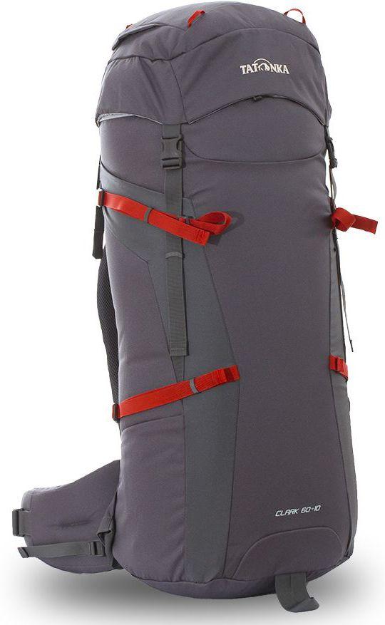 Рюкзак туристический Tatonka Clark 60+10л, цвет: серый, 89x32x30 смDI.6056.021Классический туристический рюкзак среднего объема. Рюкзак Clark 60+10 выполенен в строгом дизайне из прочной ткани Textreme 6.6. Одно просторное отделение позволит с удобством разместить все необходимые в походе или путешествии вещи. За счет объемной крышки и расширяющегося основного отделения объем рюкзака достигает 70 литров. Прочная удобная спина рюкзака выполнена с учетом анатомических особенностей спины человека, благодаря этому с рюкзаком будет комфортно идти даже в продолжительном походе. Преимущества и особенности: Система подвески Y1 Одно основное отделение, уведичивающееся в объеме в верхней части Объемная крышка рюкзака с крючком для ключей 4 петли на крышке Крышка рюкзака регулируется по высоте (до 25 см выше стандартного положения) Затяжка внутреннего отделения на один или два шнура, в зависимости от объема заполнения 4 боковые затяжки позволяют регулировать объем Петли для крепления треккинговых палок Два боковых просторных...