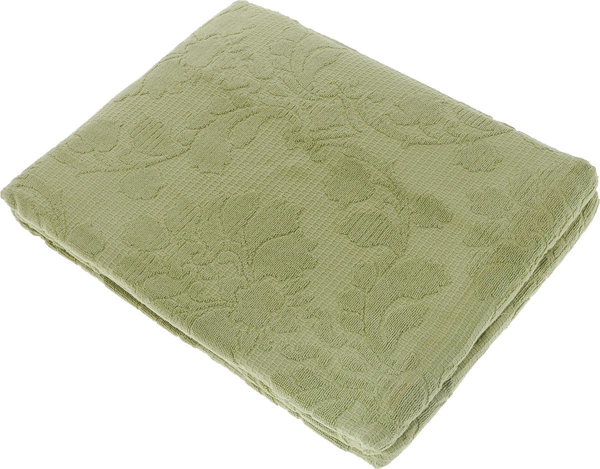 Покрывало махровое Toalla, цвет: серо-зеленый, 160 x 200 см7006287Махровое покрывало Toalla выполнено из 100% хлопка и оформлено рельефным цветочным принтом. Ткань покрывала обладает высокой плотностью и мягкостью, отличается высоким качеством и длительным сроком службы. Египетский хлопок не содержит линта (хлопковый пух), поэтому на ткани не образуются катышки даже после многократных стирок и длительного использования. Такое покрывало гармонично впишется в интерьер вашего дома и создаст атмосферу уюта и комфорта.