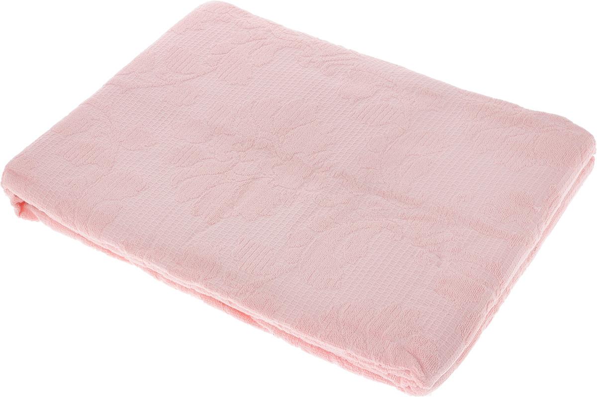 Покрывало махровое Toalla, цвет: розовый, 200 x 220 см7005907Махровое покрывало Toalla выполнено из 100% хлопка и оформлено рельефным цветочным принтом. Ткань покрывала обладает высокой плотностью и мягкостью, отличается высоким качеством и длительным сроком службы. Египетский хлопок не содержит линта (хлопковый пух), поэтому на ткани не образуются катышки даже после многократных стирок и длительного использования. Такое покрывало гармонично впишется в интерьер вашего дома и создаст атмосферу уюта и комфорта.