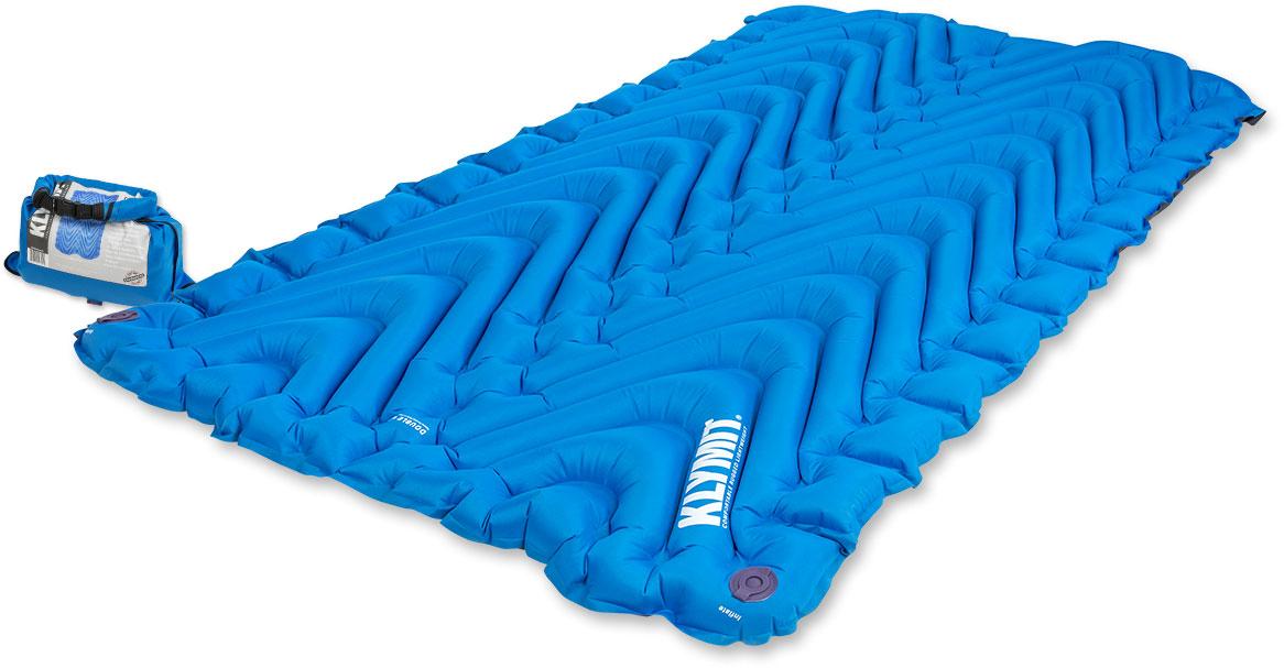 Надувной коврик Klymit Static V Double Blue, цвет: синий