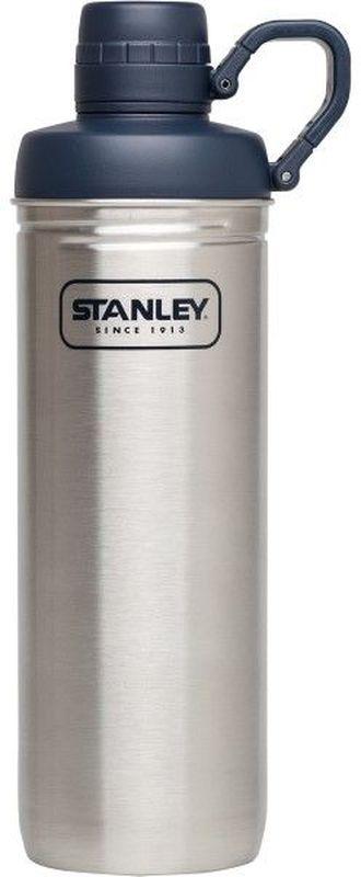 Бутылка для воды Stanley Adventure, 0,79 л, цвет: стальнойa026124Бутылка для воды. Сохраняет холод - 1 час, напитки со льдом – 4 часа. Нержавеющая сталь. Интегрированное кольцо-держатель крышки. Цвет - Стальной. Гарантия пожизненная.
