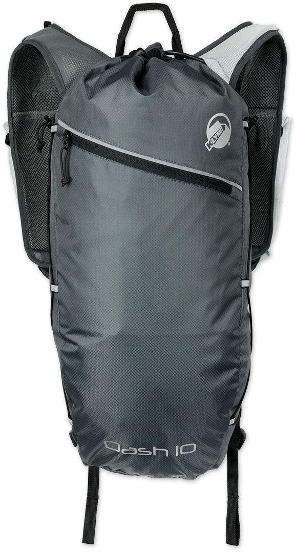 Туристический рюкзак Klymit Dush 10, цвет: серый, 10 л12SDSGY01BТехнология Air Frame (воздушная рамка с сеткой) - оптимальный воздухообмен и комфорт, встроен насос. Объем – 10 литров; Вес – 430 гр; Материал – нейлон 210D; Нагрузка – 7 кг; Размер – 40X59 см; Цвет – серый. Пожизненная гарантия.