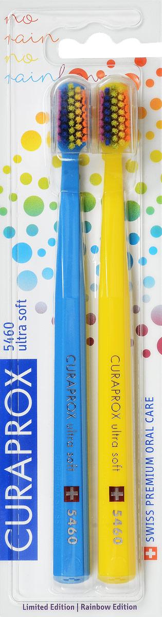 CS 5460 Duo Rainbow Edition Набор зубных щеток Ultrasoft, цвет: голубой, желтый, d 0,10 мм (2 шт)4605845001470Щетки предназначены для ежедневного очищения зубов. Каждая щетка содержит 5460 мягких активных щетинок (диаметр 0,10мм) и обеспечивает качественное и нетравматичное удаление зубного налета.