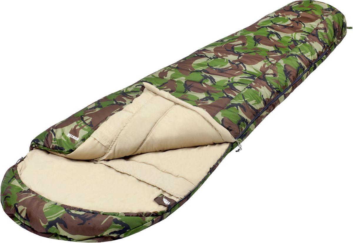 Спальный мешок TREK PLANET Hunter, цвет: камуфляж, левосторонняя молнияс58836Комфортный, просторный, теплый и удобный спальник-кокон TREK PLANET Hunter в камуфляжном исполнении предназначен для весенне-осенних поездок на природу. Идеально подойдет для людей, любящих походы, рыбалку, охоту или просто качественные камуфляжные вещи. Самый доступный камуфляжный спальный мешок с лимитом комфорта до -5°С.ОСОБЕННОСТИ СПАЛЬНИКА:- Спальник-кокон в камуфляжном исполнении,- Удобный глубокий капюшон,- Затягивающаяся шнуровка по краю капюшона,- Молния с левой стороны,- Молния имеет два замка с обеих сторон- Тепловой ворот,- Термоклапан вдоль молнии,- Внутренний карман,- Небольшой вес,- К спальнику прилагается чехол для удобного хранения и переноски.