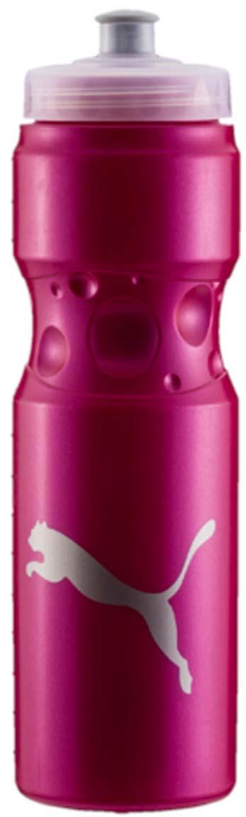 Бутылка для воды Puma Tr Bottle Sport, цвет: розовый. 05314503. 750 мл05314503Эргономичная бутылка для воды с закручивающейся крышкой и герметичным клапаном с делениями на корпусе - отличный спутник твоих тренировок. У модели герметичный клапан, деления на корпусе бутылки и логотип бренда.