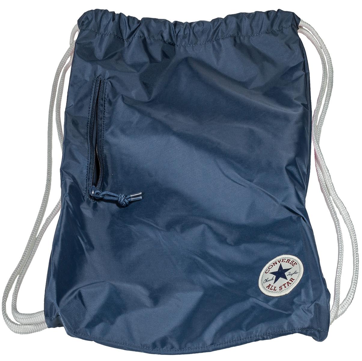 Рюкзак Converse, цвет: синий. 10003340410BP-001 BKСпортивный рюкзак Converse выполнен из текстиля. Модель с одним отделением на затягивающемся шнурке и тонких лямках.