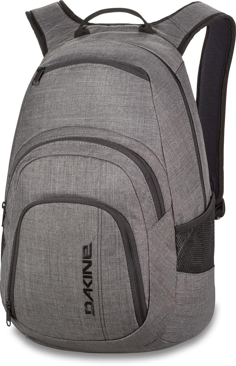 Рюкзак городской Dakine Campus Carbon, цвет: серый, 25 л. 813005600116665 08130056Городской рюкзак с отделением для ноутбука ( до 14). Карман-органайзер, карман-термос, карман-сетка снаружи. Карман для очков из мягкого флиса.
