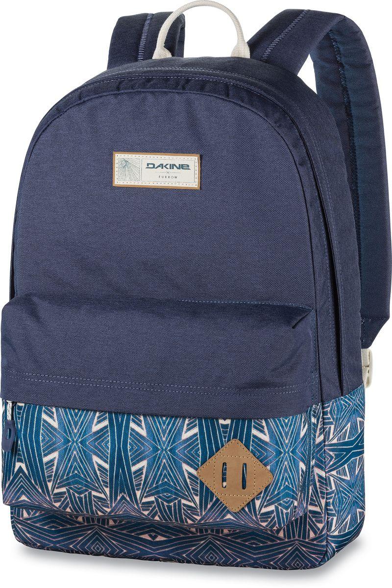 Рюкзак городской Dakine 365 Pack цвет: темно-синий, голубой, 21 лЛЦ0036Городской рюкзак Dakine 365 Pack выполнен извысококачественного полиэстера, имеет вместительноеосновное отделение, в которое с легкостью помещаетсяпапка формата A4. В рюкзаке имеется встроенноеусиленное отделение для ноутбука и является отличнымвариантом для учебы и отдыха! Вместительный карманорганайзер с внутренним кармашком для телефона,фронтальный карман на молнии, два боковых кармана длянапитков или мелочей - максимальная функциональность.Идеально подходит для ежедневных прогулок иприключений.