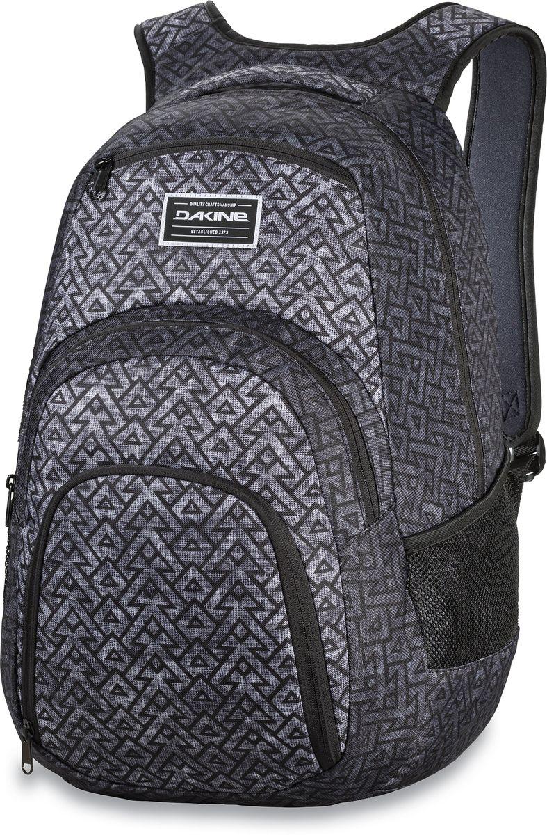 Рюкзак городской Dakine Campus, цвет: темно-серый, серый, 33 лЛЦ0036Городской рюкзак Dakine Campus выполнен из высококачественного полиэстера. Модель прекрасно подходит для активной жизни в городской черте.Особенности рюкзака: - есть специальный карман для ноутбука,- встроенный карман с термоизоляцией для еды и напитков,- карман-органайзер с отверстием для наушников, - флисовый карман для очков,- боковые карманы-сетки,- регулируемый нагрудный ремешок,- воздухопроницаемые наплечные ремни,- объемные складывающиеся карманы позволяют хранить отдельно вещи.