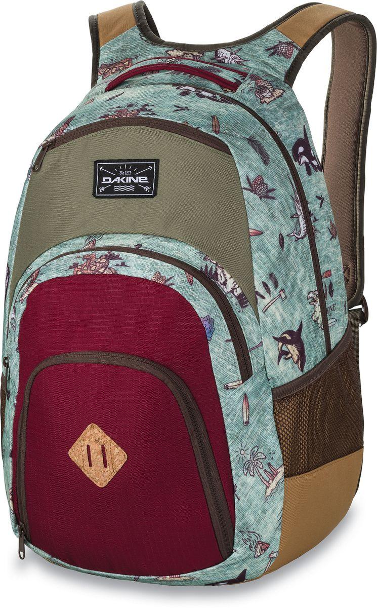 Рюкзак городской Dakine Campus, цвет: бордовый, голубой, хаки, 33 лBP-001 BKГородской рюкзак Dakine Campus выполнен из высококачественного полиэстера. Модель прекрасно подходит для активной жизни в городской черте.Особенности рюкзака: - есть специальный карман для ноутбука,- встроенный карман с термоизоляцией для еды и напитков,- карман-органайзер с отверстием для наушников, - флисовый карман для очков,- боковые карманы-сетки,- регулируемый нагрудный ремешок,- воздухопроницаемые наплечные ремни,- объемные складывающиеся карманы позволяют хранить отдельно вещи.
