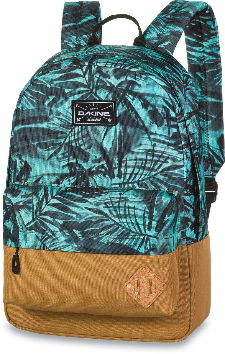 Рюкзак городской Dakine 365 Pack Painted Palm, цвет: бирюзовый, 21 л. 813008500127062 8130085Городской рюкзак. Однообъемный. С карманом для ноутбука ( до 15) и внешним карманом.