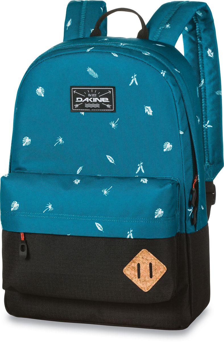 Рюкзак городской Dakine 365 Pack, цвет: бирюзовый, черный, 21 лЛЦ0036Городской рюкзак Dakine 365 Pack выполнен извысококачественного полиэстера, имеет вместительноеосновное отделение, в которое с легкостью помещаетсяпапка формата A4. В рюкзаке имеется встроенноеусиленное отделение для ноутбука и является отличнымвариантом для учебы и отдыха! Вместительный карманорганайзер с внутренним кармашком для телефона,фронтальный карман на молнии, два боковых кармана длянапитков или мелочей - максимальная функциональность.Идеально подходит для ежедневных прогулок иприключений.