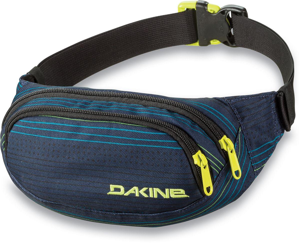 Сумка поясная Dakine Hip Pack Lineup, цвет: темно-синий, 0,6 л. 813020000127090 8130200Поясная сумка с двумя отделениями. Регулируемый поясной ремень.
