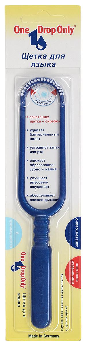One Drop Only Щетка для удаления налета с языка, цвет: синий013.000_синийOne Drop Only Щетка для удаления налета с языка, цвет: синий