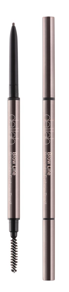 Delilah Карандаш для бровей тон Ash, 0,08 грDLL1001Брови – очень важная часть лица, они обрамляют глаза и являются завершающим элементом, создающим впечатление ухоженности. Brow Line – это выдвижной карандаш, который очень просто использовать. Его тонкий кончик позволяет легко нарисовать четко очерченные, но естественного вида брови. Грифель карандаша довольной жесткий, поэтому линия получается мягкой и похожей на натуральные волоски. На другом конце находится встроенная щеточка, с которой идеальные брови - не проблема.