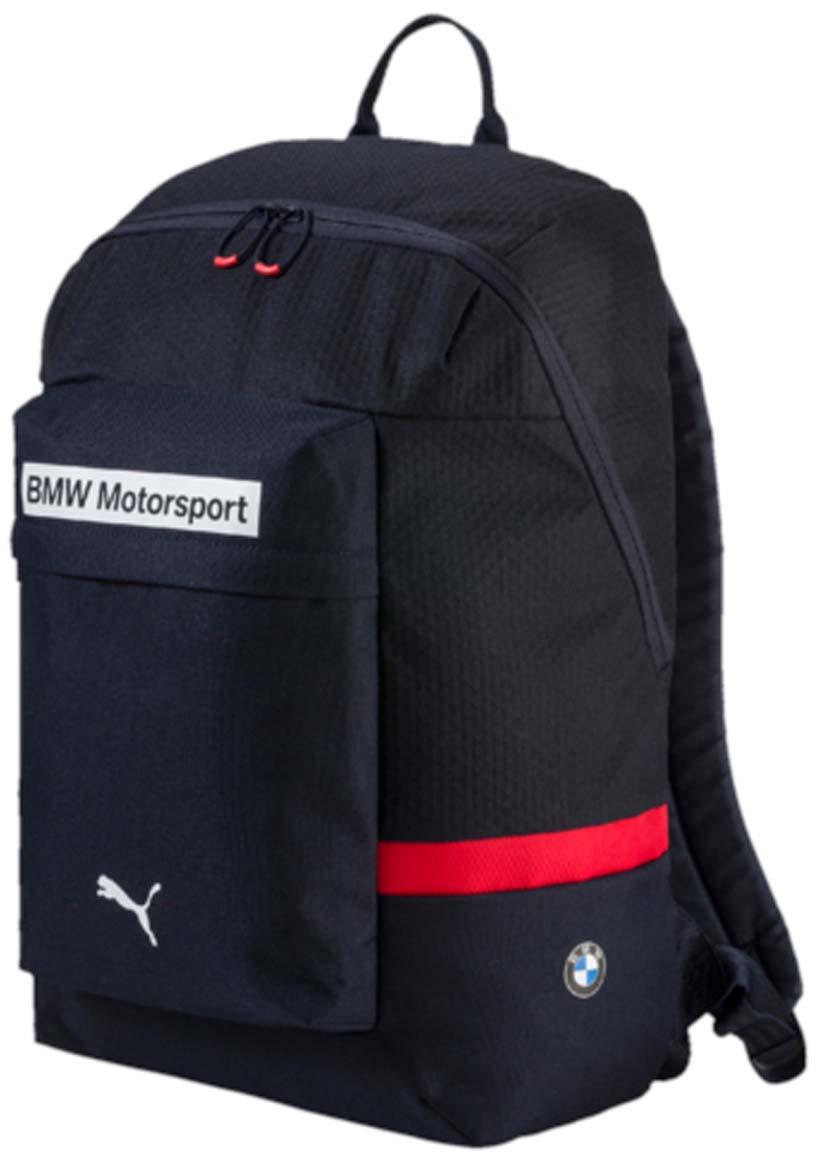 Рюкзак Puma Bmw Motorsport Backpack, цвет: синий. 07448602BP-001 BKРюкзак Pumaвыполнен из текстиля. Модель с одним отделением, спереди имеется карман на молнии. Рюкзак оснащен регулируемыми по длине плечевыми лямками и петлей для подвешивания.