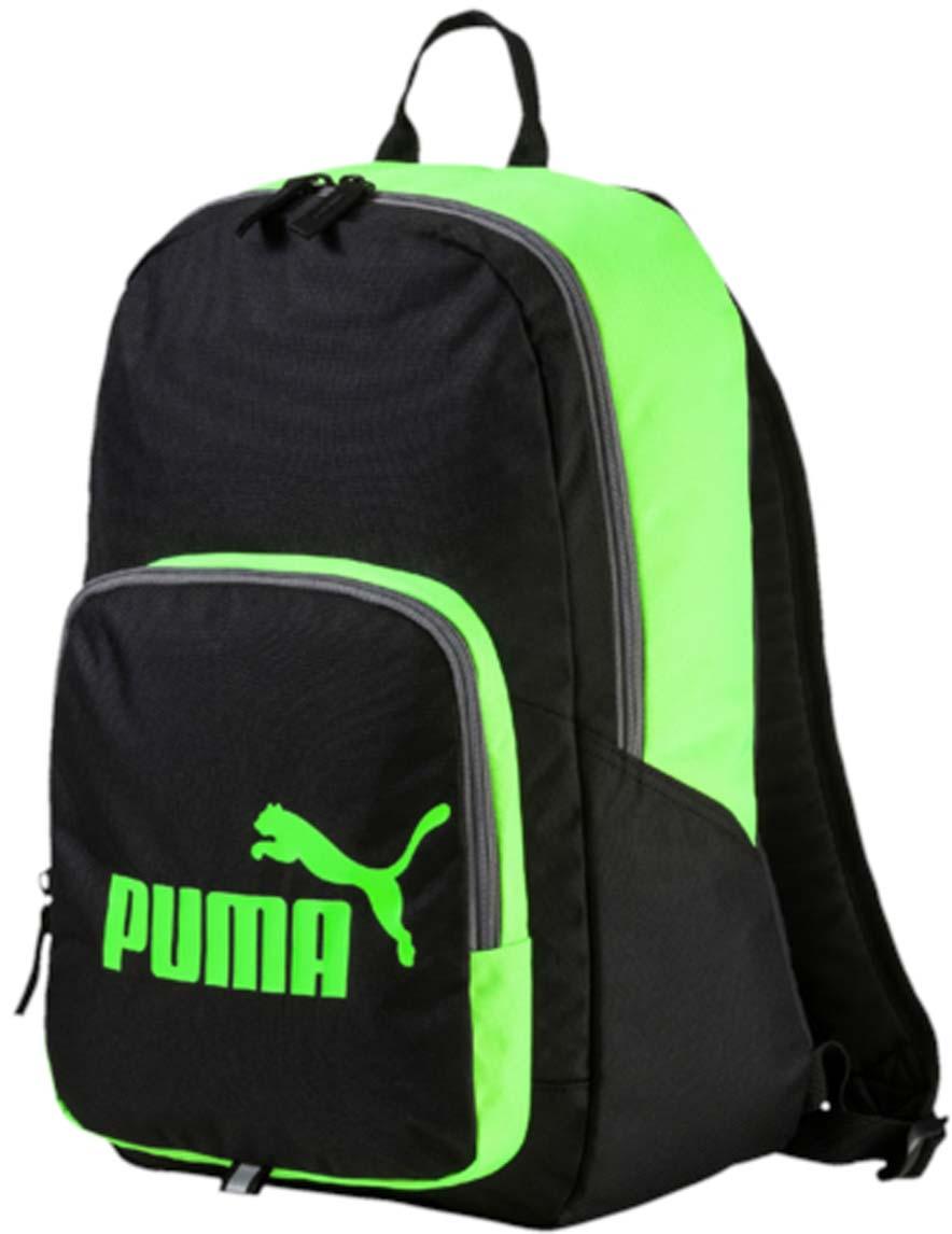 Рюкзак Puma Phase Backpack, цвет: черный. 07358918RivaCase 8460 blackРюкзак Puma выполнен из текстиля. Модель с одним отделением. Передняя стенка оформлена объемным карманом на молнии. Рюкзак оснащен регулируемыми по длине плечевыми лямками и петлей для подвешивания.