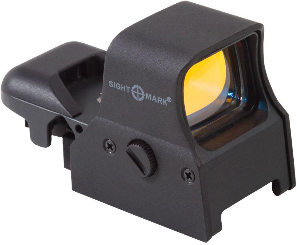 Прицел коллиматорный Sightmark, панорамный на Weaver, со сменной маркой, 5 режимовSM14000Коллиматор Sightmark панорамный на Weaver, марка - сменная 4 вида, подсветка красная. Арт. SM14000 Компания Sightmark, США,Техас, Мэнсфилд впервые представила свою продукцию в 2007 году на SHOT Show. Основной целью компании является разработка и производство современной оптики и аксессуаров для охотников, спортсменов и стрелков. Кроме того, каждый продукт разработан для специализированного рынка, позволяя стрелкам получить больше высококачественных изделий для их огнестрельного оружия и пистолетов. Все коллиматорные прицелы Sightmark разработаны для ружей, винтовок и пистолетов. Коллиматорный прицел Sightmark SM14000 имеет интегрированное быстросъемное крепление на планку Weaver, позволяющее стрелку эффективно и быстро установить его на свое огнестрельное оружие. Прицел позволяет, в зависимости от вида охоты, применять одну из четырех прицельных марок красного цвета. Яркость прицельной марки регулируется резиновой кнопкой. При нажатии на кнопку, прицельная марка меняет...
