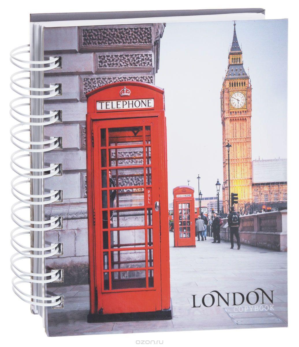 Listoff Тетрадь Лондонский пейзаж 180 листов в клетку610842Тетрадь Listoff Лондонский пейзаж подойдет как школьнику, так и студенту. Обложка тетради выполнена из прочного картона и оформлена изображением улицы Лондона с видом на Биг-Бен.Внутренний блок тетради на гребне состоит из 180 листов белой бумаги с линовкой в клетку.