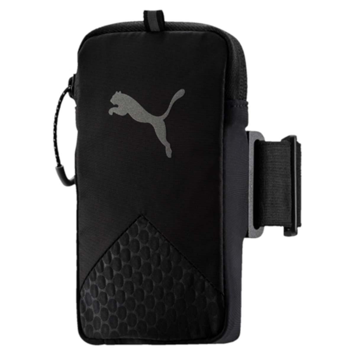 Сумка-чехол для мобильных устройств Puma Pr Arm Pocket, цвет: черный. 0531420151991952Чехол на руку PR Arm Pocket - это незаменимый аксессуар для спортсменов и людей, ведущих активный образ жизни. Изделие предназначено для ношения смартфона. Оно крепится к плечу на эластичном ремне и оснащено специальным выходом для подключения наушников или гарнитуры. Подходит для электронных устройств размером 8 см x 14 см. Основное отделение на застежке-молнии. У модели сетчатая вставка на задней части, выход для аудио-кабеля, светоотражающие шнурки на застежках-молниях, светоотражающий логотип бренда.