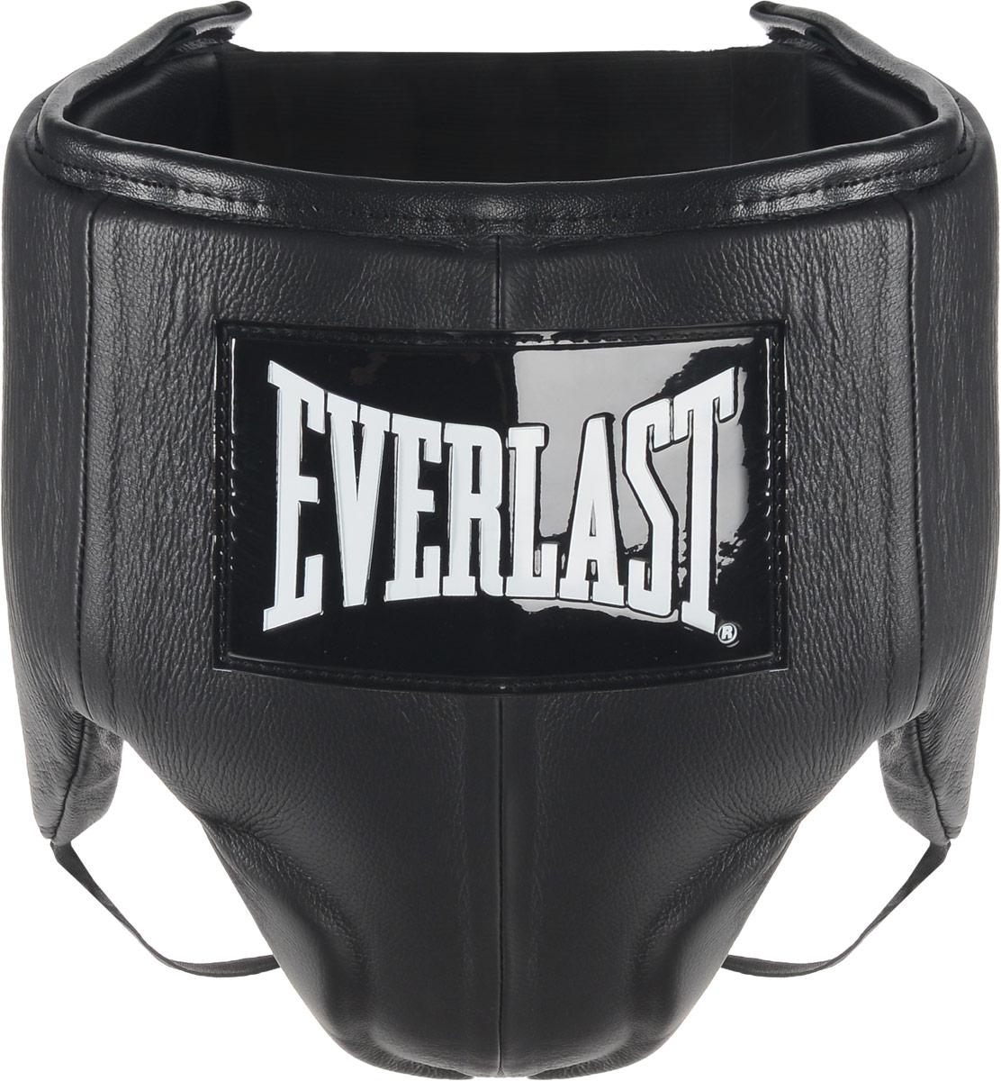 Защита паха мужская Everlast Velcro Top Pro, цвет: черный, белый. Размер MQNT1133Everlast Velcro Top Pro это удобный обтягивающий бандаж, идеально подходящий как для тренировочных спаррингов, так и для боя на ринге. Бандаж изготовлен из высококачественной натуральной кожи, а подкладка набита пенным наполнителем высокой плотности, благодаря чему достигается превосходная амортизация ударов. Усовершенствованный облегченный дизайн обеспечивает максимальную подвижность и комфорт, в то же время гарантируя безопасность и полную защиту паха и тазовой области. Удобные застежки на липучке позволят подогнать защиту под ваш размер и плотно зафиксировать ее на теле. Максимальный обхват: 103 см.Минимальный обхват: 93 см.